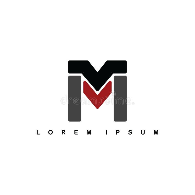 m字母表信件艺术题材商标略写法 库存例证