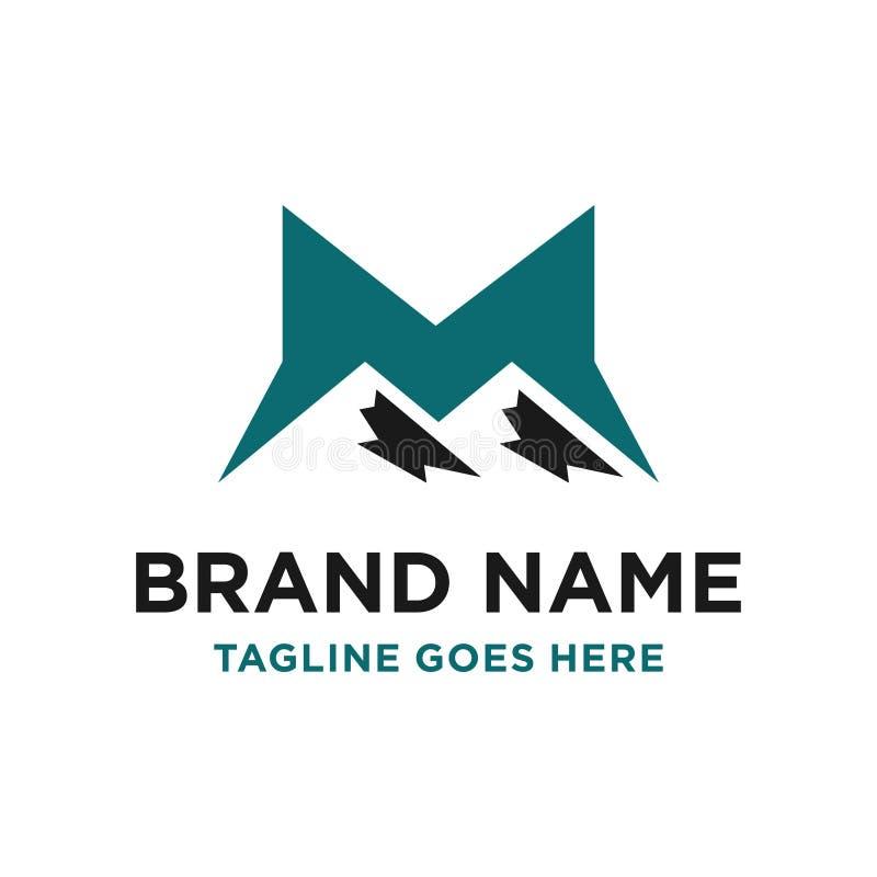 M山最初商标设计 皇族释放例证