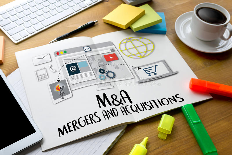 M&A (合并和承购),合并&承购, Busin 向量例证