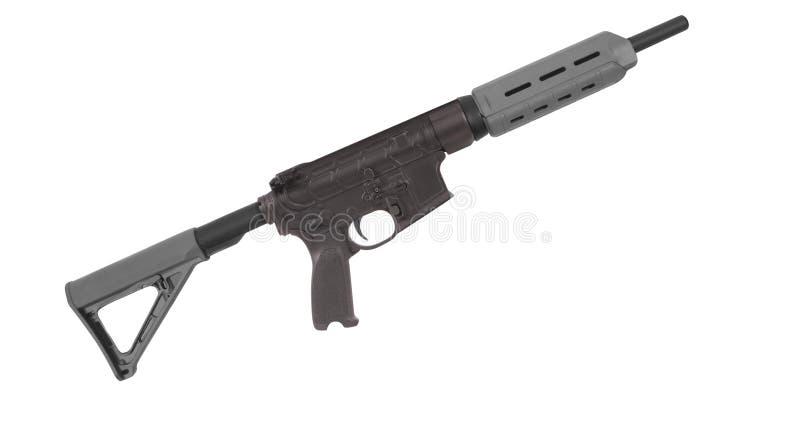 M4在白色隔绝的步枪 免版税库存图片