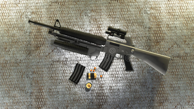 M16 lizenzfreie abbildung