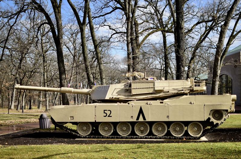 M1 Abrams Tank. This is a picture of a M1 Abrams Tank on display at the Cantigny Tank Park located in Winfield, Illinois in DuPage County. The M1 series is the U stock photography