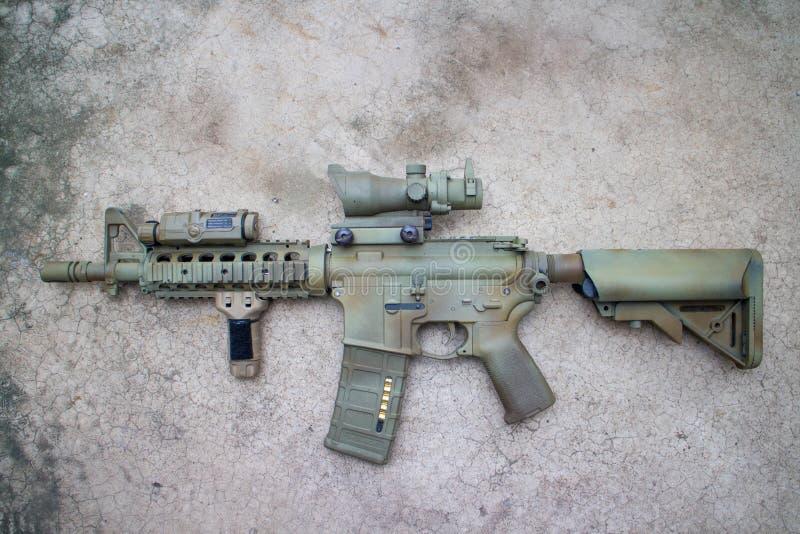 M4a1 airsoft kanon royalty-vrije stock foto