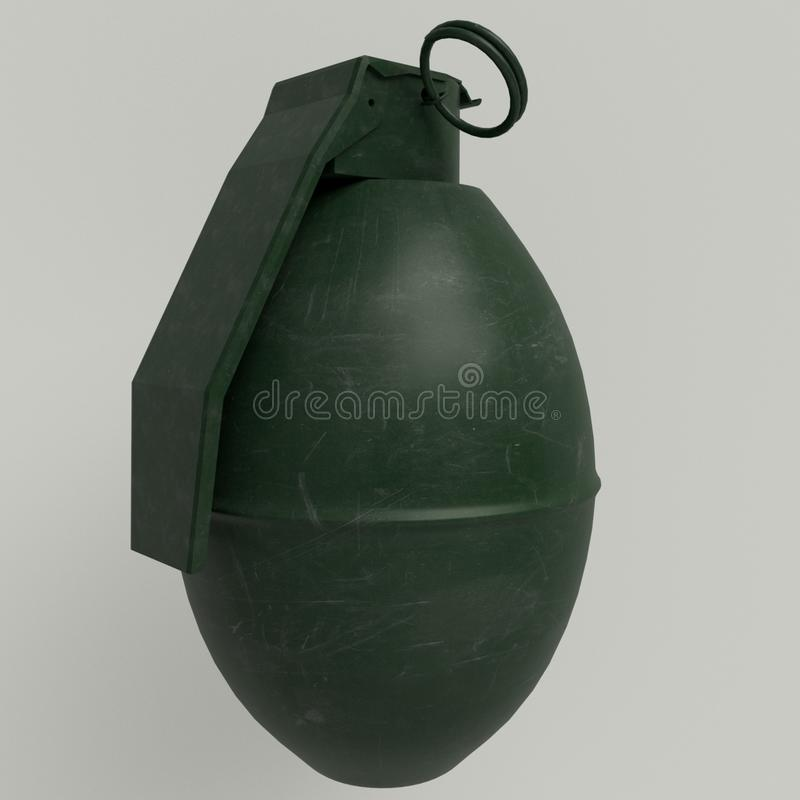 M26 - American hand defensive grenade. royalty free stock photo