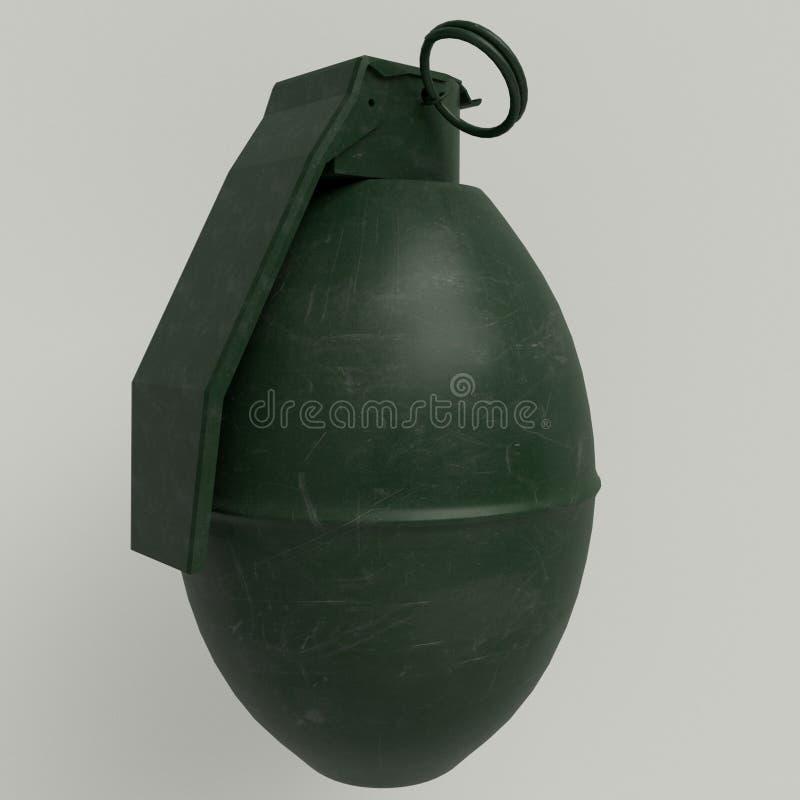 M26 - Amerykańskiej ręki defensywny granat zdjęcie royalty free