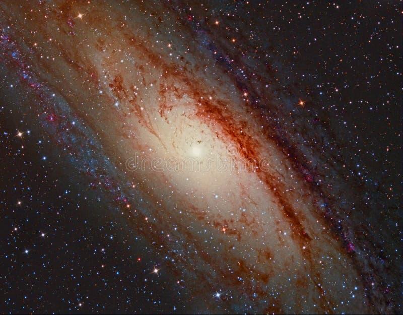 M31 Andromeda Galaxy fotografering för bildbyråer