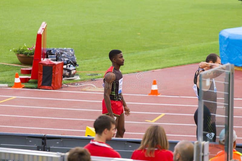 200 m atleta zdjęcia stock