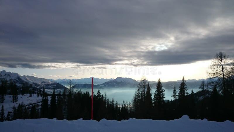Tauplitzalm panorama royalty free stock photo