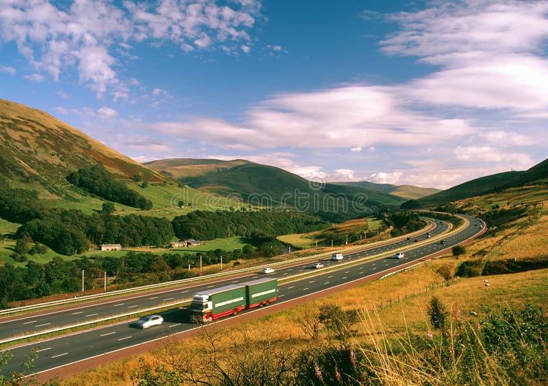 M6, autostrada scenica, Cumbria, Regno Unito fotografie stock libere da diritti
