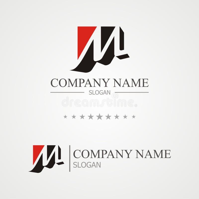 M-bokstavslogo stock illustrationer