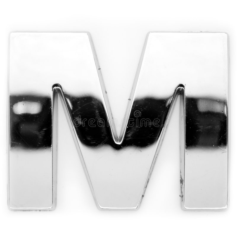 M - Carta del metal fotos de archivo libres de regalías