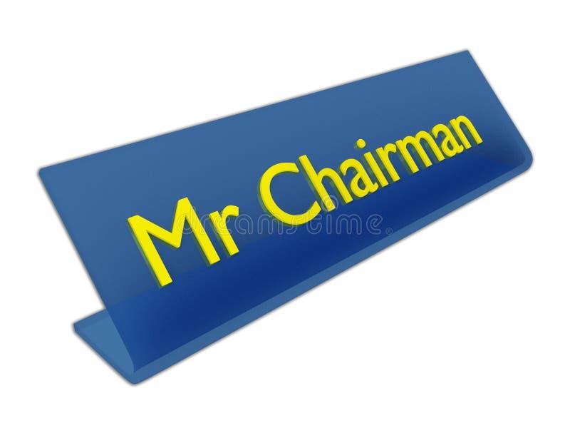 M. Chairman-concept vector illustratie
