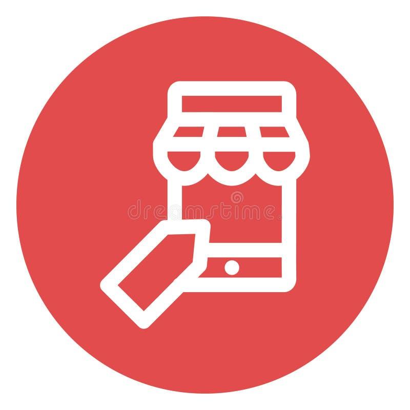 m commerce, bold vector icon mobile banking illustrazione vettoriale