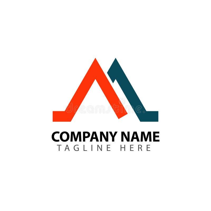 M Company Logo Vector Template Design Illustration vektor abbildung