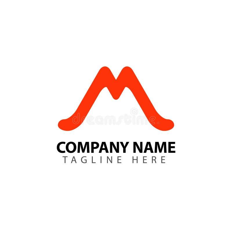 M Company Logo Vetora Template Design Illustration ilustração do vetor
