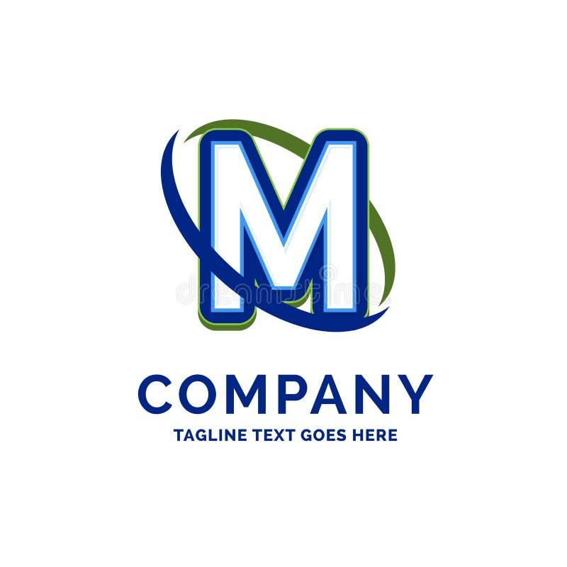 M Company Name Design Logomall Märkesnamnmallställe stock illustrationer