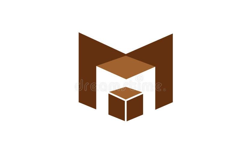 M criativo Letter Magic Box Logo Symbol Design ilustração royalty free