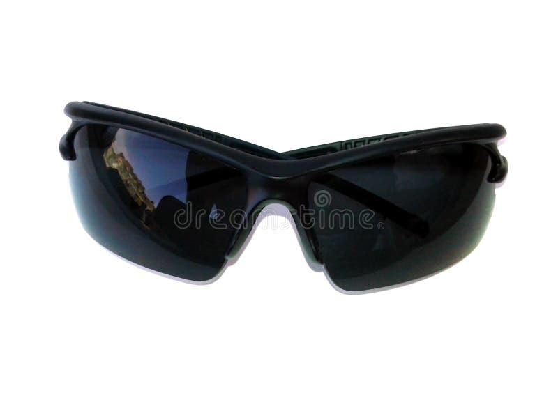 M??czyzn czarni okulary przeciws?oneczni odizolowywaj?cy na bia?ym tle obraz stock