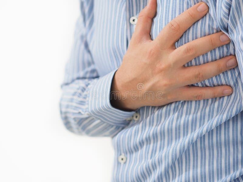M??czyzna trzyma jego serce z jego r?k? zdjęcie stock