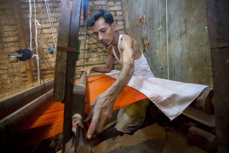 M.D. Ali Hossen 28 jaar een arbeider van Benarashi Palli stock afbeelding