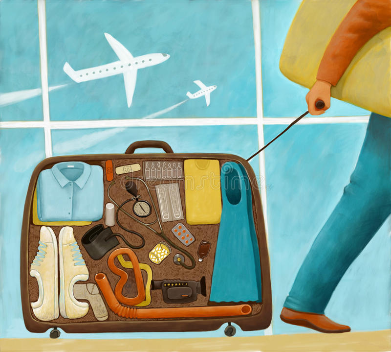 M.D. is going on vacation royalty free illustration