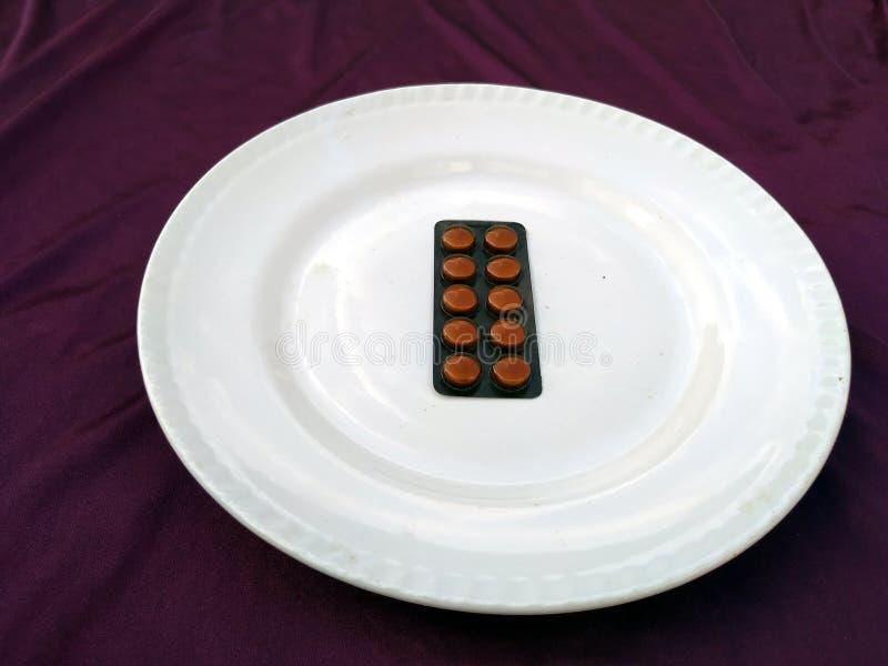 M?decine de pilules d'antibiotiques de pharmaceutiques photographie stock