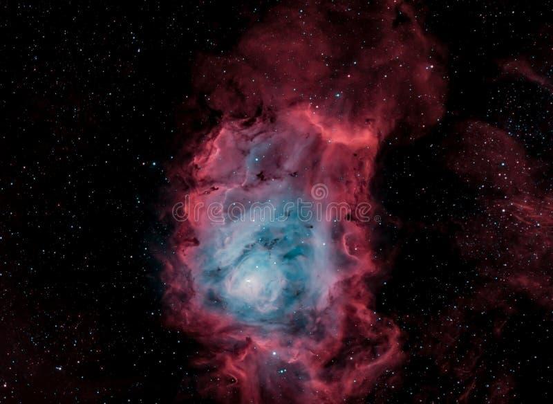 M8, der Lagunen-Nebelfleck, in Schmalbandzweifarbigem stockfotografie