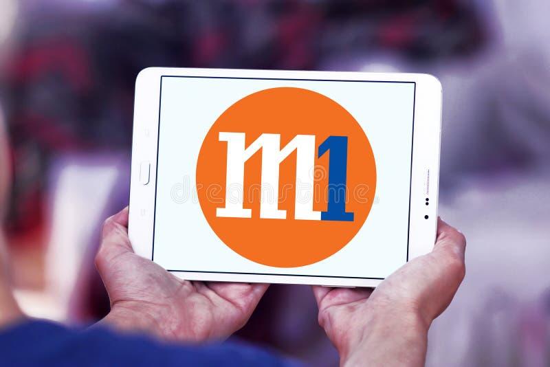 M1 firmy Limitowany logo zdjęcia royalty free