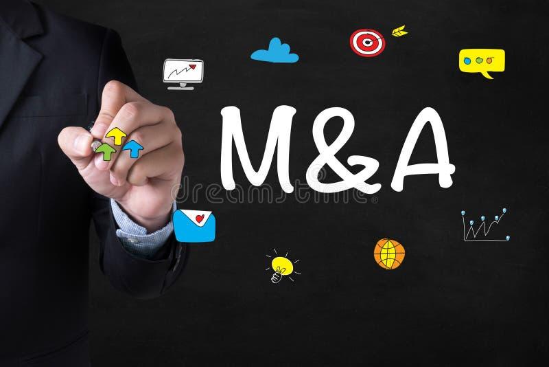 M&A (FUSIONEN UND ERWERB) stockfotos