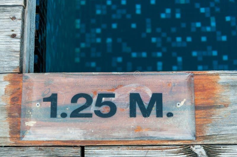 1 25 m głębii ocechowanie obraz stock