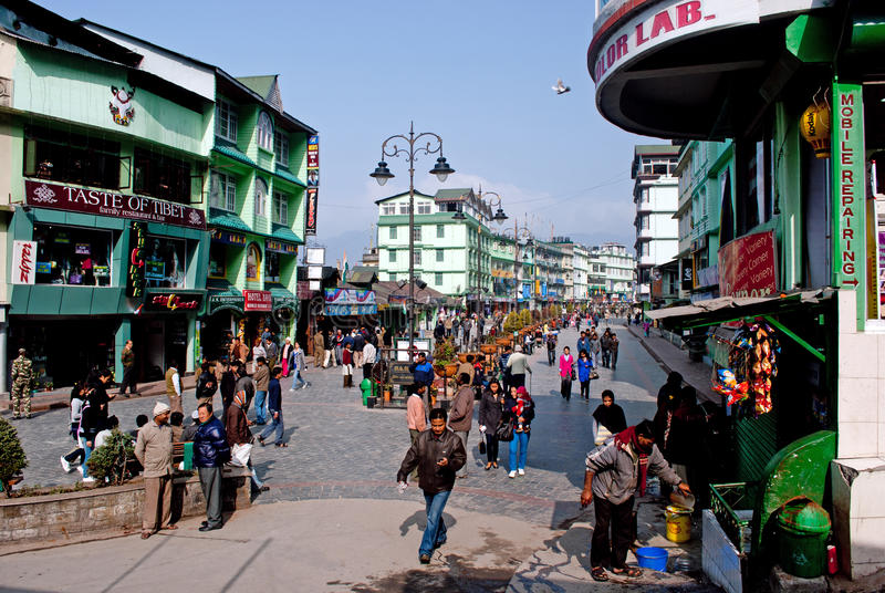 M G Marg, Gangtok arkivfoton