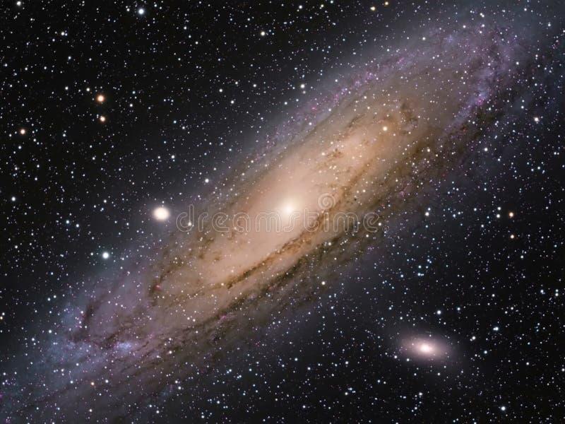 M31 galaktyka w andromeda reala fotografii obraz stock