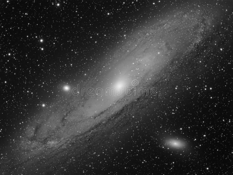 M31 Galaxy in Andromeda Real Photo stock images