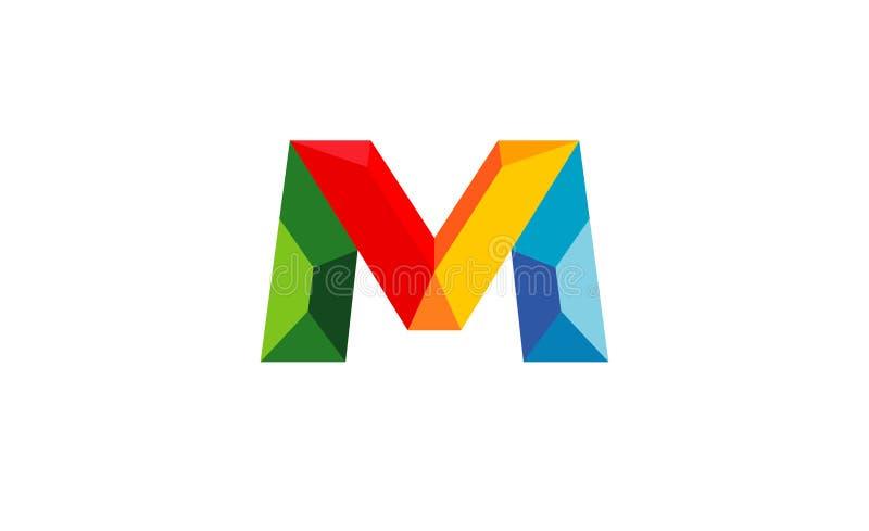 M geométrico colorido criativo Letter Symbol Vetora Logo Design ilustração stock
