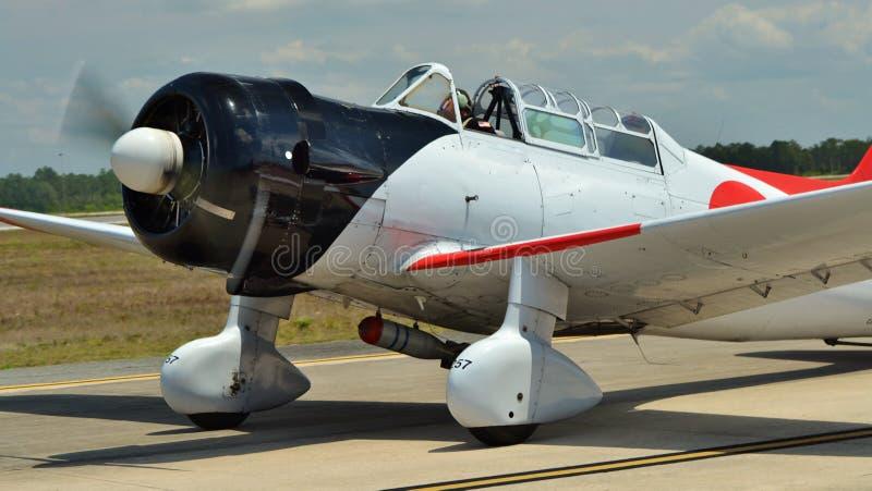 A6M giapponese Zero Fighter Plane fotografia stock libera da diritti