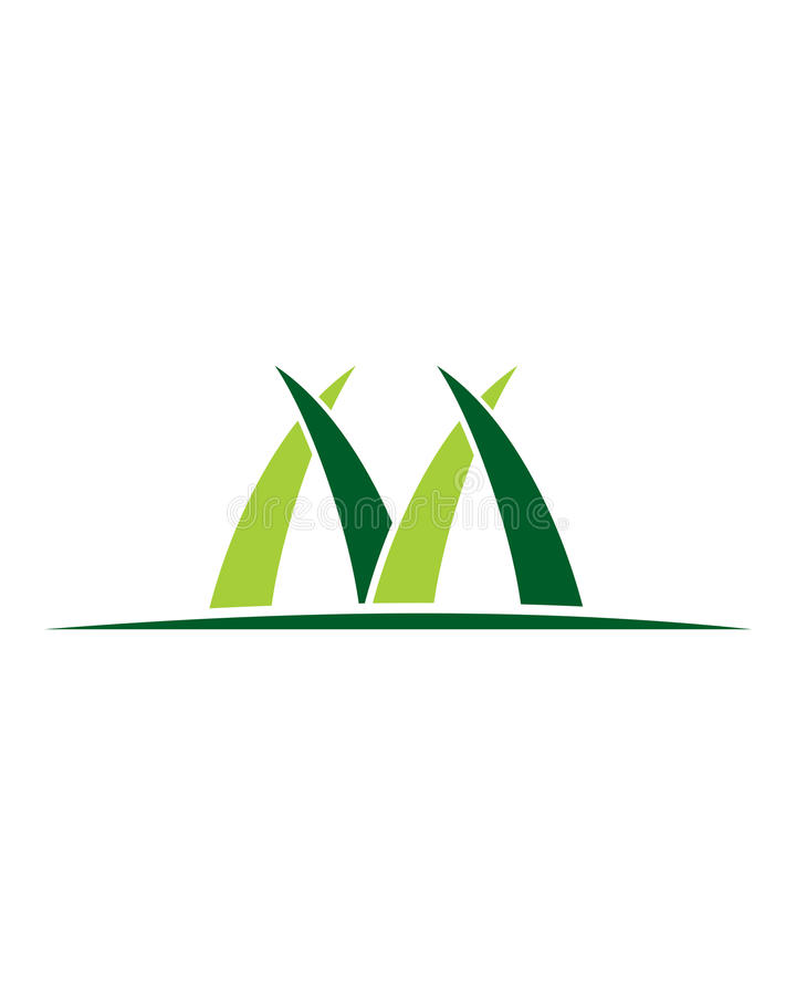 M Grass stock foto