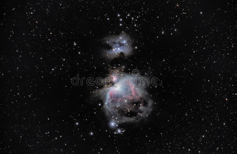 M42, great nebula of Orion in Alava stock image