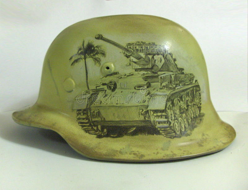 M40 helmet. Drawing. royalty free stock images