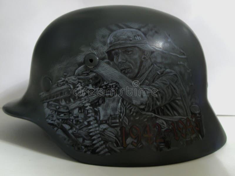 M40 helmet. Drawing. Stalingrad stock photography