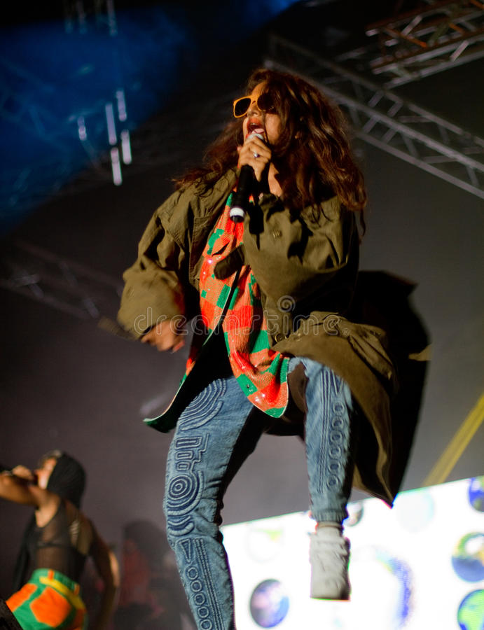 Free M.I.A. Live On Stage Royalty Free Stock Photo - 15612995