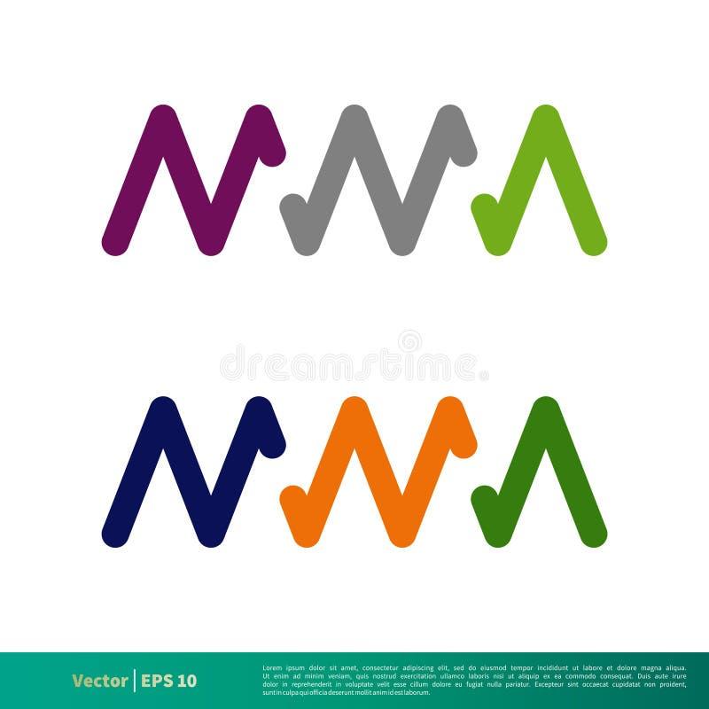M M A Initial Letter Vetora Logo Template Illustration Design Vetor EPS 10 ilustração royalty free