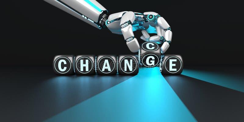 M?jlighet f?r robothand?ndring royaltyfri illustrationer
