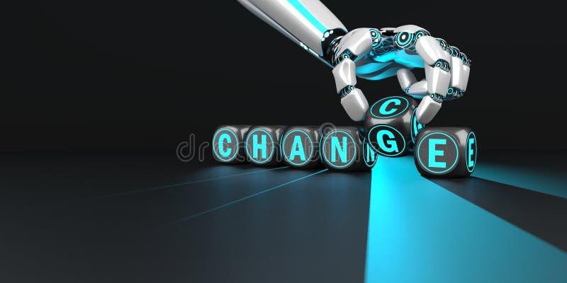 M?jlighet f?r robothand?ndring vektor illustrationer