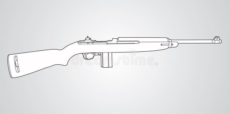 M1 karabinka karabin royalty ilustracja
