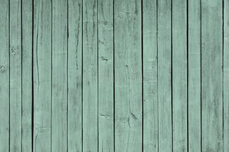 M?lade vanliga Teal Blue och Gray Rustic Wood Board Background som kan vara endera horisontal eller vertikal Tomt rum- eller utry royaltyfri foto