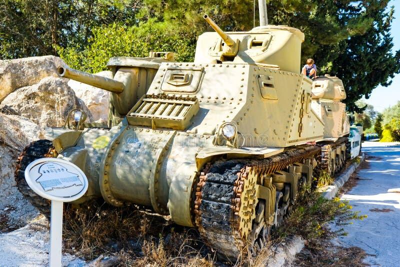 M3 Lee american tank. Israeli Armored Corps Museum at Latrun stock photo