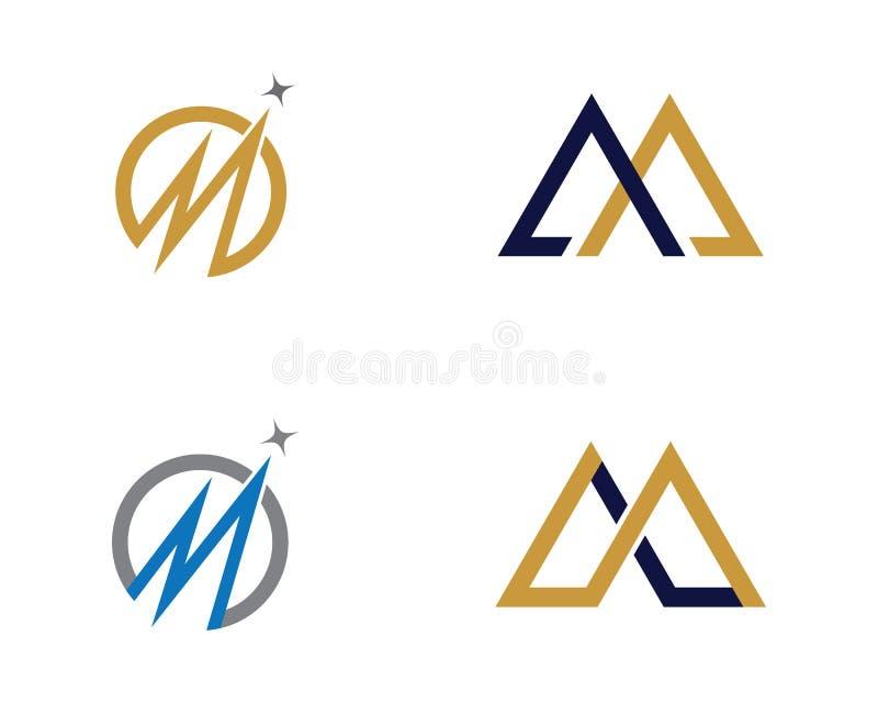 M Letter Business Finance professioneel embleemmalplaatje royalty-vrije illustratie