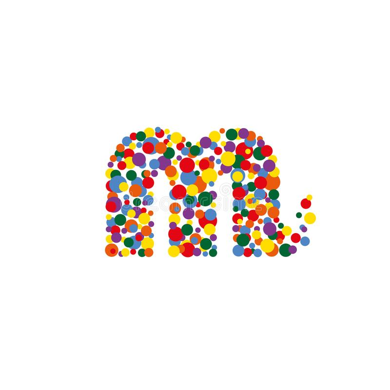 m-letter from colored bubbles. Bubbles design. royalty free stock photos