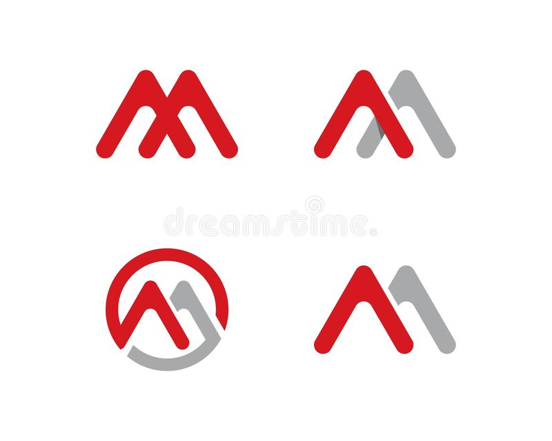 M Letter Logo Business. Template Vector icon stock illustration
