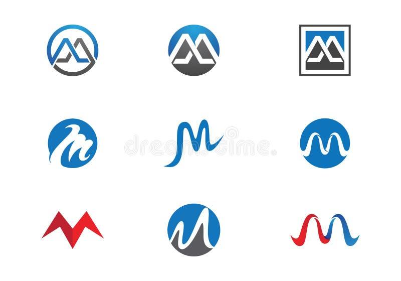 M Letter Logo Business Template stock de ilustración